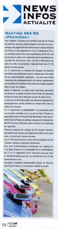 964 RS Première 2014