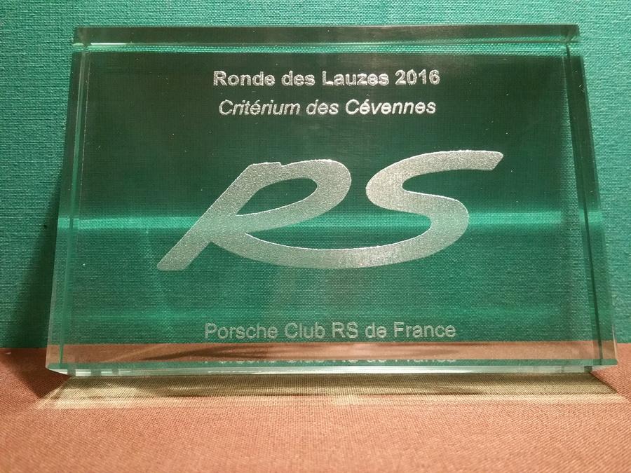 Le trophée  de la Ronde des Lauzes 2016